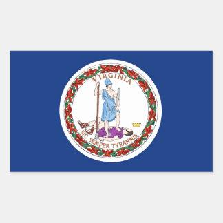 Bandera del estado de Virginia Pegatina Rectangular