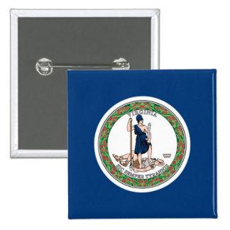 Bandera del estado de Virginia Pin Cuadrada 5 Cm