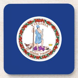 Bandera del estado de Virginia Posavasos