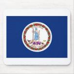 Bandera del estado de Virginia Tapetes De Ratones