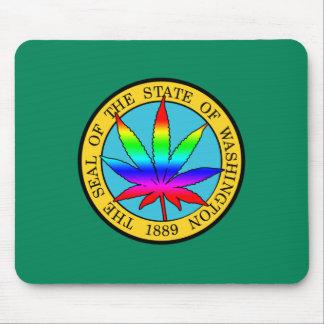 Bandera del estado de Washington con colores de la Tapetes De Raton