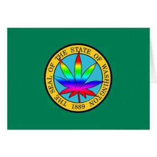 Bandera del estado de Washington con colores de la Tarjeta