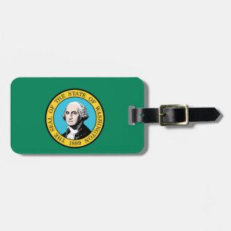 Bandera del estado de Washington Etiquetas Para Equipaje