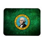 Bandera del estado de Washington Imanes De Vinilo