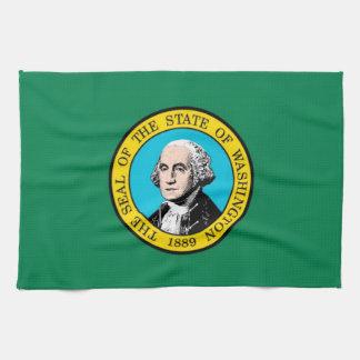 Bandera del estado de Washington para la Té-Toalla Toallas