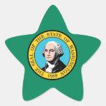 Bandera del estado de Washington Pegatinas Forma De Estrella