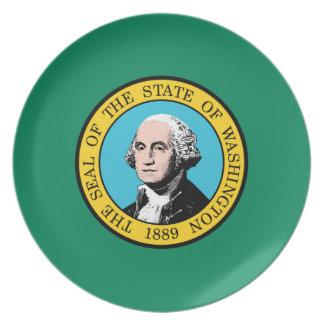 Bandera del estado de Washington Plato De Comida