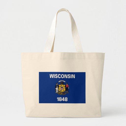 Bandera del estado de Wisconsin Bolsa De Mano