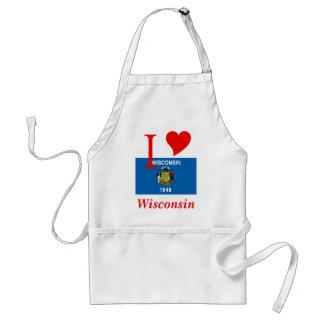 Bandera del estado de Wisconsin Delantales