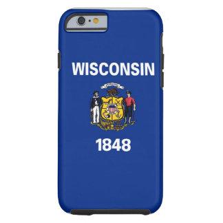 Bandera del estado de Wisconsin Funda Resistente iPhone 6