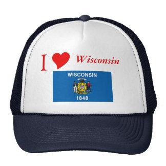 Bandera del estado de Wisconsin Gorro De Camionero