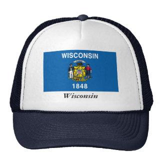 Bandera del estado de Wisconsin Gorros Bordados