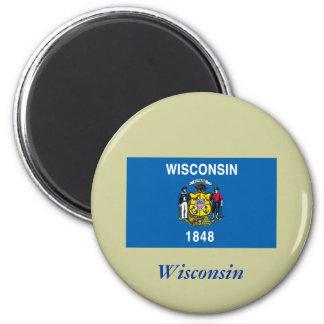 Bandera del estado de Wisconsin Iman Para Frigorífico