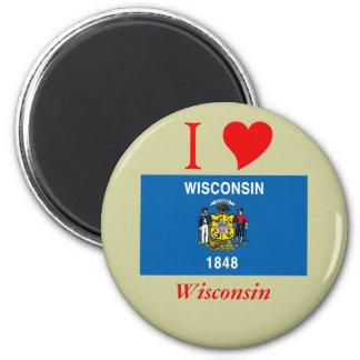 Bandera del estado de Wisconsin Imán De Frigorífico