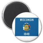 Bandera del estado de Wisconsin Iman De Nevera