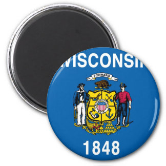 Bandera del estado de Wisconsin Imán De Nevera