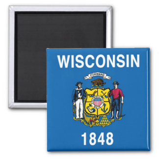 Bandera del estado de Wisconsin Imanes
