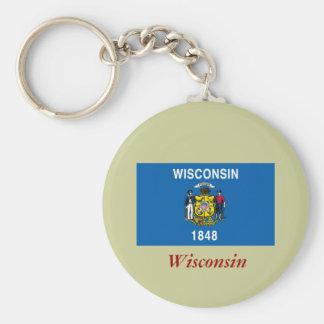 Bandera del estado de Wisconsin Llaveros Personalizados