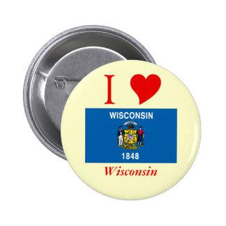 Bandera del estado de Wisconsin Pin