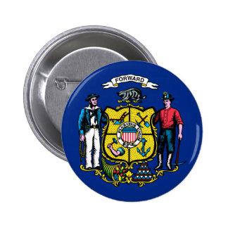 Bandera del estado de Wisconsin Pins