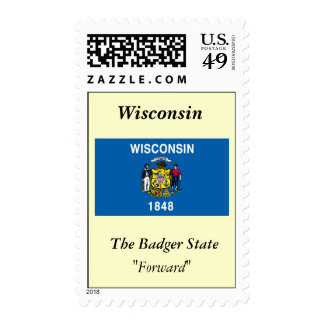 Bandera del estado de Wisconsin Sello