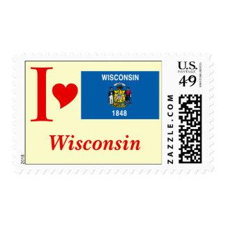 Bandera del estado de Wisconsin Sellos