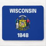 Bandera del estado de Wisconsin Alfombrillas De Raton