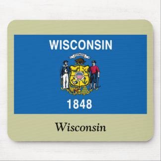 Bandera del estado de Wisconsin Tapetes De Raton
