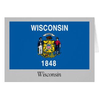 Bandera del estado de Wisconsin Tarjeta