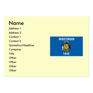 Bandera del estado de Wisconsin Tarjetas De Visita