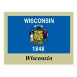 Bandera del estado de Wisconsin Tarjetas Postales