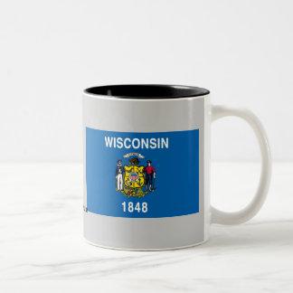Bandera del estado de Wisconsin Tazas