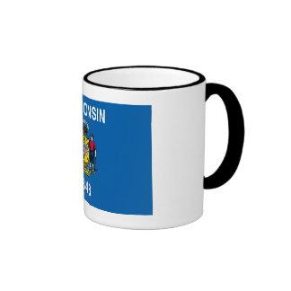 Bandera del estado de Wisconsin Tazas De Café