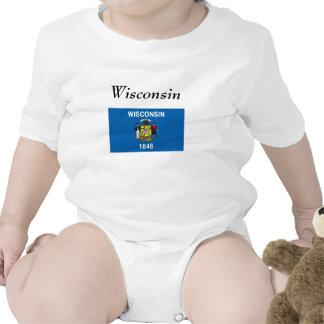 Bandera del estado de Wisconsin Trajes De Bebé