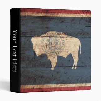 """Bandera del estado de Wyoming en grano de madera Carpeta 1"""""""