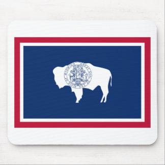 Bandera del estado de Wyoming Tapete De Ratón