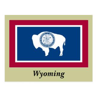 Bandera del estado de Wyoming Tarjeta Postal