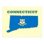 Bandera del estado del CT Tarjetas Postales