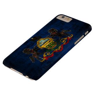 Bandera del estado del Grunge del vintage de Funda De iPhone 6 Plus Barely There