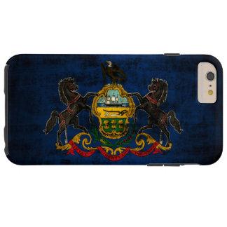 Bandera del estado del Grunge del vintage de Funda De iPhone 6 Plus Tough