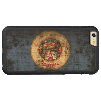 Bandera del estado del Grunge del vintage de Funda De Arce Bumper Carved® Para iPhone 6 Plus