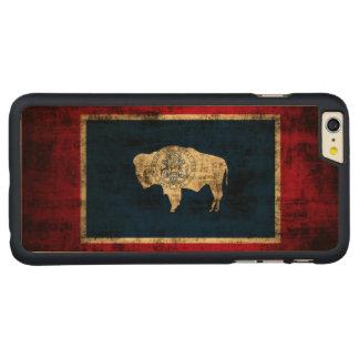 Bandera del estado del Grunge del vintage de Funda De Arce Carved® Para iPhone 6 Plus Slim