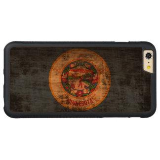 Bandera del estado del Grunge del vintage de Funda De Cerezo Bumper Carved® Para iPhone 6 Plus
