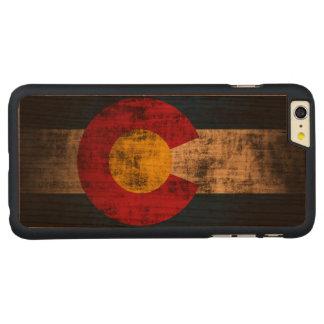 Bandera del estado del Grunge del vintage de Funda De Cerezo Carved® Para iPhone 6 Plus