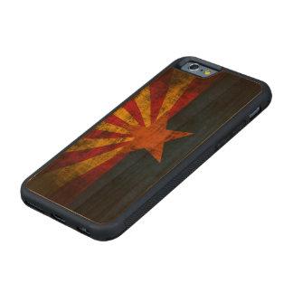 Bandera del estado del Grunge del vintage de Funda De iPhone 6 Bumper Cerezo