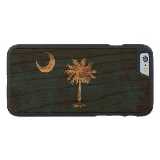 Bandera del estado del Grunge del vintage de Funda De iPhone 6 Carved® Slim De Cerezo