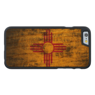 Bandera del estado del Grunge del vintage de New Funda De iPhone 6 Carved® De Cerezo