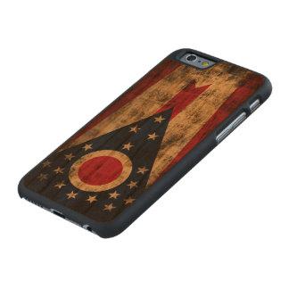 Bandera del estado del Grunge del vintage de Ohio Funda De iPhone 6 Carved® Slim De Cerezo