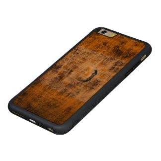Bandera del estado del Grunge del vintage de Rhode Funda De Cerezo Bumper Carved® Para iPhone 6 Plus