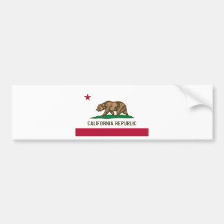 Bandera del estado del oso de la república de Cali Etiqueta De Parachoque